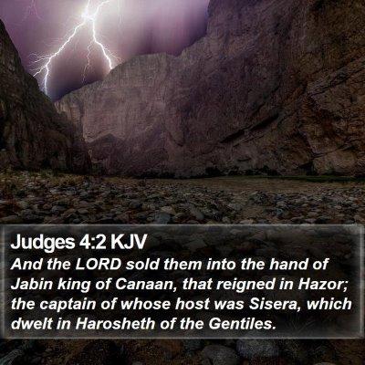 Judges 4:2 KJV Bible Verse Image