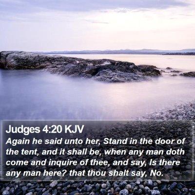 Judges 4:20 KJV Bible Verse Image