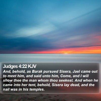 Judges 4:22 KJV Bible Verse Image