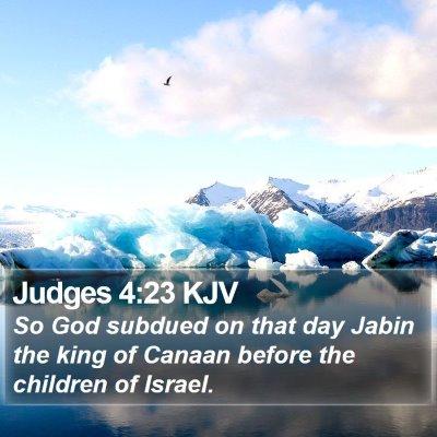 Judges 4:23 KJV Bible Verse Image