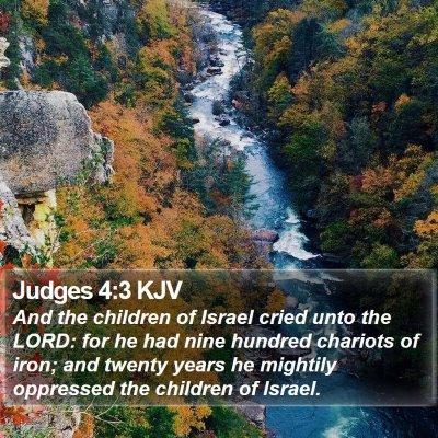 Judges 4:3 KJV Bible Verse Image