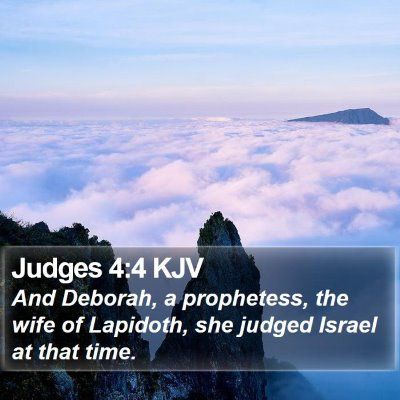 Judges 4:4 KJV Bible Verse Image