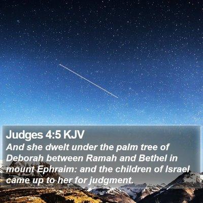 Judges 4:5 KJV Bible Verse Image