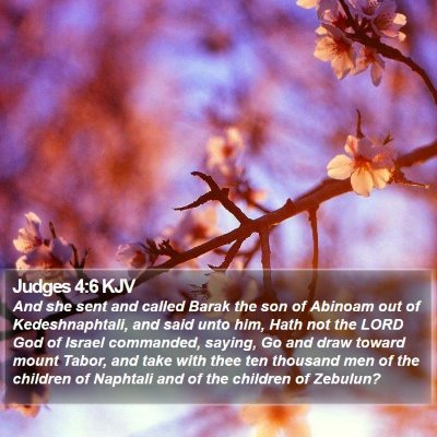Judges 4:6 KJV Bible Verse Image