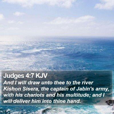 Judges 4:7 KJV Bible Verse Image