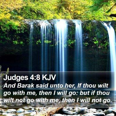 Judges 4:8 KJV Bible Verse Image