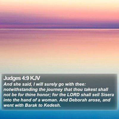 Judges 4:9 KJV Bible Verse Image