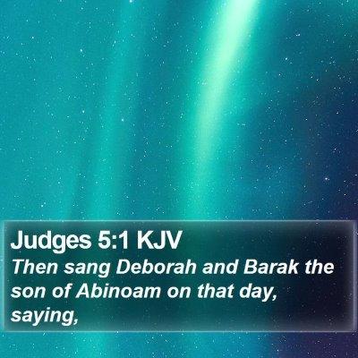 Judges 5:1 KJV Bible Verse Image