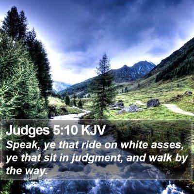 Judges 5:10 KJV Bible Verse Image