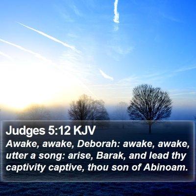 Judges 5:12 KJV Bible Verse Image