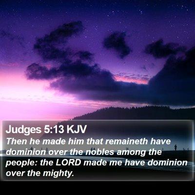 Judges 5:13 KJV Bible Verse Image