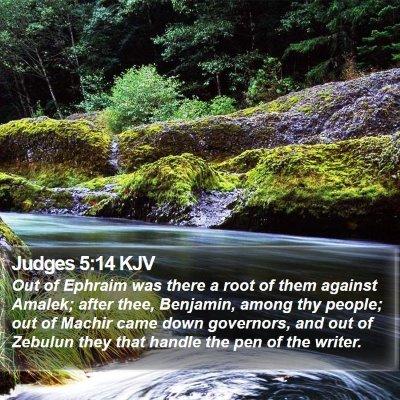 Judges 5:14 KJV Bible Verse Image