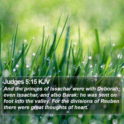 Judges 5:15 KJV Bible Verse Image