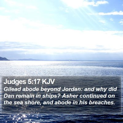 Judges 5:17 KJV Bible Verse Image