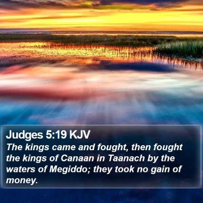 Judges 5:19 KJV Bible Verse Image