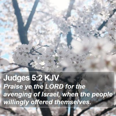 Judges 5:2 KJV Bible Verse Image