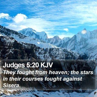 Judges 5:20 KJV Bible Verse Image