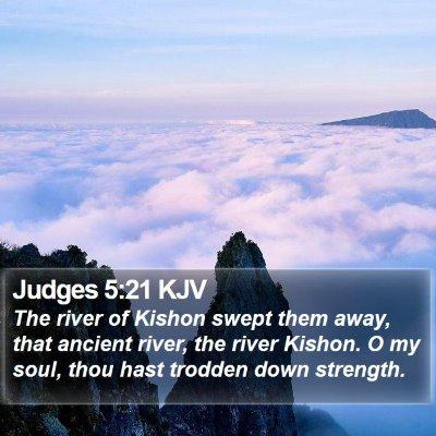 Judges 5:21 KJV Bible Verse Image