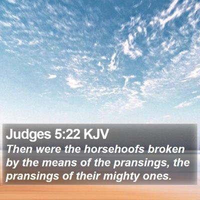 Judges 5:22 KJV Bible Verse Image
