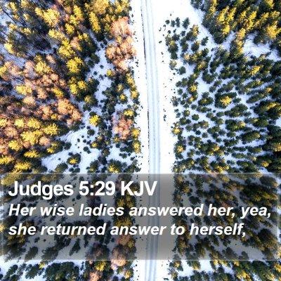 Judges 5:29 KJV Bible Verse Image