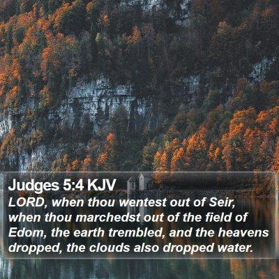 Judges 5:4 KJV Bible Verse Image