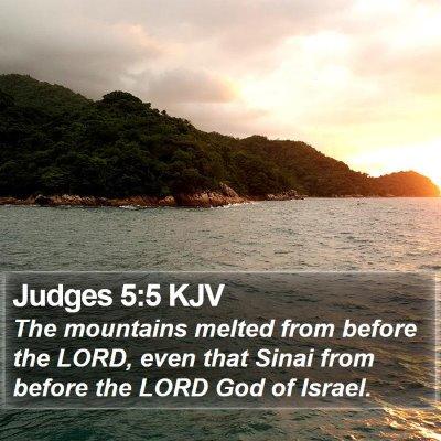 Judges 5:5 KJV Bible Verse Image