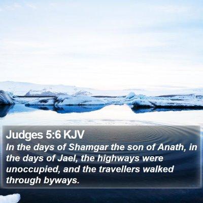 Judges 5:6 KJV Bible Verse Image