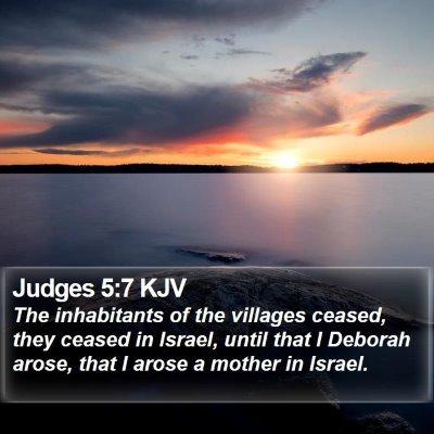 Judges 5:7 KJV Bible Verse Image