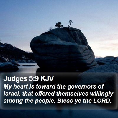 Judges 5:9 KJV Bible Verse Image