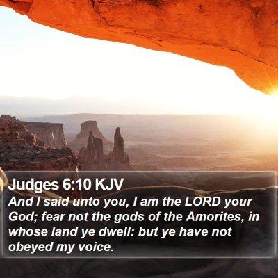 Judges 6:10 KJV Bible Verse Image