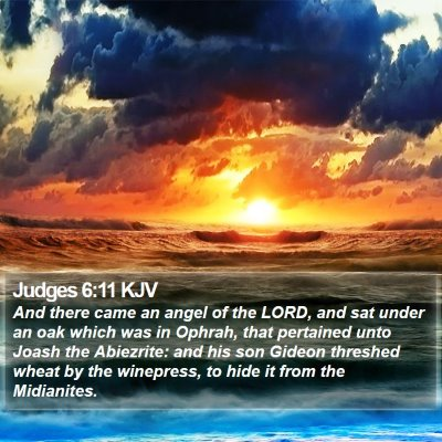 Judges 6:11 KJV Bible Verse Image