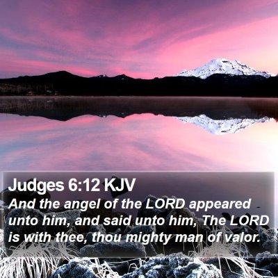 Judges 6:12 KJV Bible Verse Image