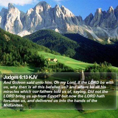Judges 6:13 KJV Bible Verse Image
