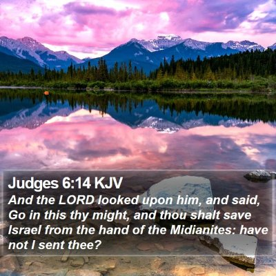 Judges 6:14 KJV Bible Verse Image