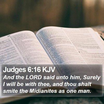 Judges 6:16 KJV Bible Verse Image