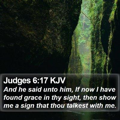 Judges 6:17 KJV Bible Verse Image