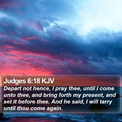 Judges 6:18 KJV Bible Verse Image