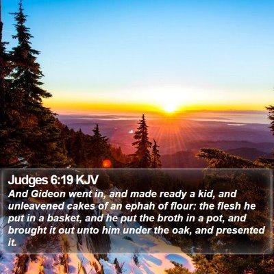Judges 6:19 KJV Bible Verse Image