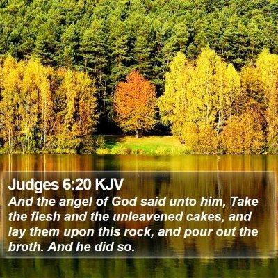 Judges 6:20 KJV Bible Verse Image