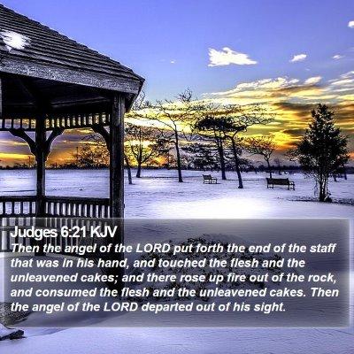 Judges 6:21 KJV Bible Verse Image