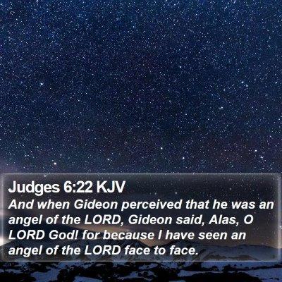 Judges 6:22 KJV Bible Verse Image