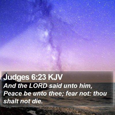 Judges 6:23 KJV Bible Verse Image