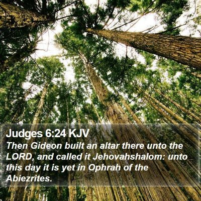 Judges 6:24 KJV Bible Verse Image