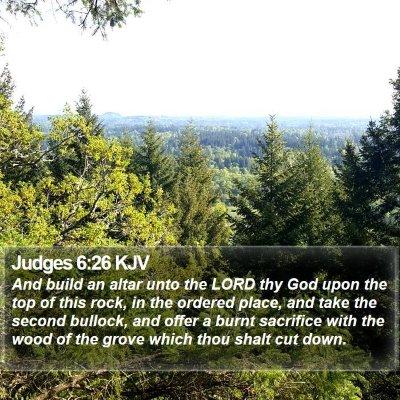 Judges 6:26 KJV Bible Verse Image