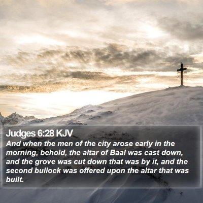 Judges 6:28 KJV Bible Verse Image
