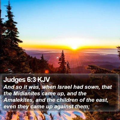 Judges 6:3 KJV Bible Verse Image