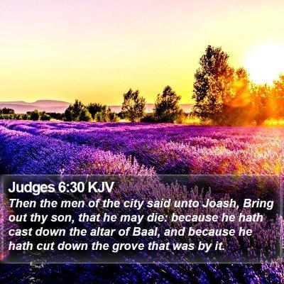 Judges 6:30 KJV Bible Verse Image