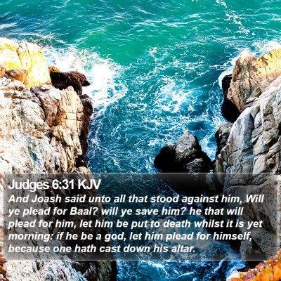 Judges 6:31 KJV Bible Verse Image
