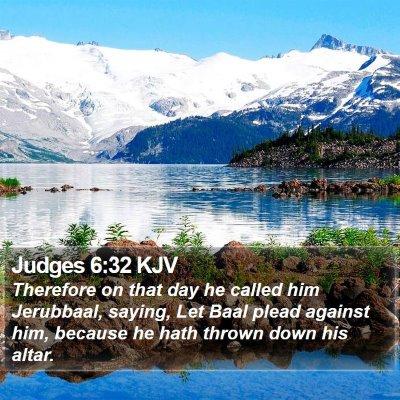 Judges 6:32 KJV Bible Verse Image