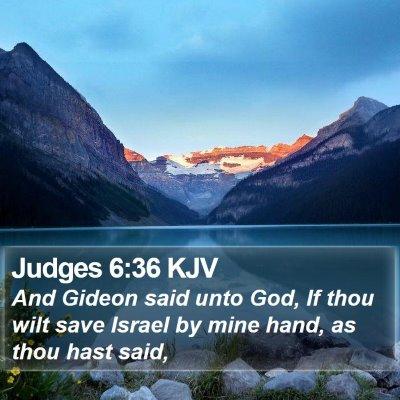 Judges 6:36 KJV Bible Verse Image
